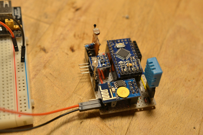 Esp weather station with arduino hardware
