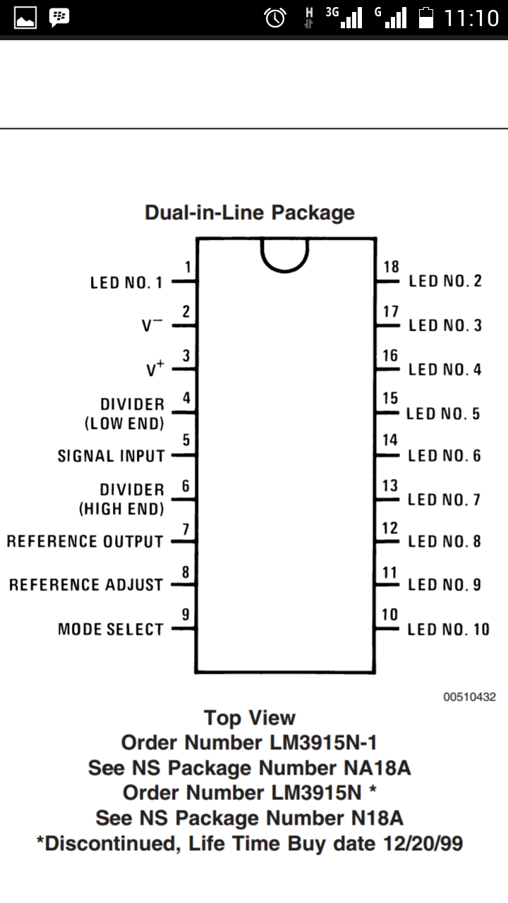 Vu Meter With Led Strip Using A Lm3915 Circuit Diagram Before You Use For Your Purpose It Better To Read The Datasheet
