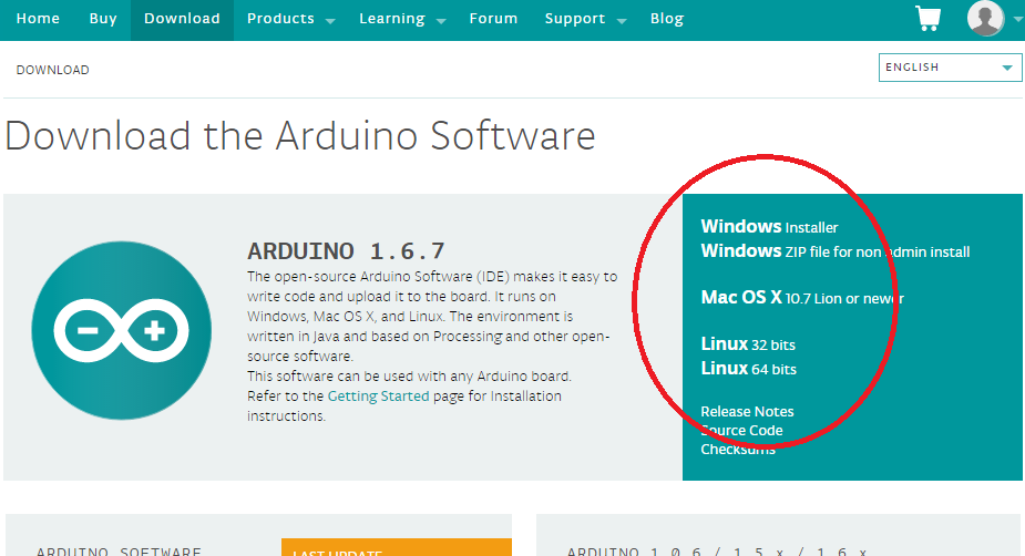Arduino ide download english