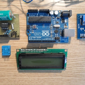 Clock with thermometer using Arduino, i2c 16x2 lcd, DS1307 RTC and