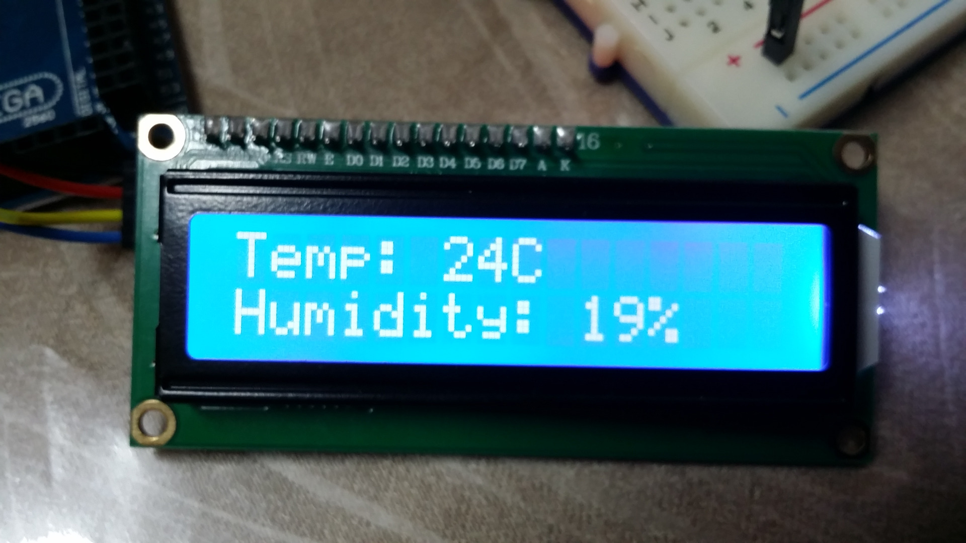 Arduino Temp/Humidity Sensor Using DHT11 and I2C LCD One Day Project