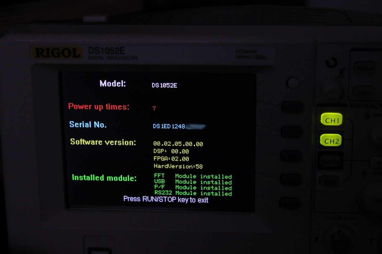 Hacking the Rigol DS1052E Oscilloscope with Linux
